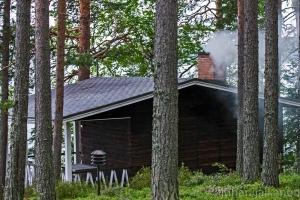 sauna lämpiämässä
